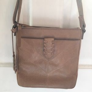 PRISTINE Lucky Brand Genuine Leather Crossbody Bag